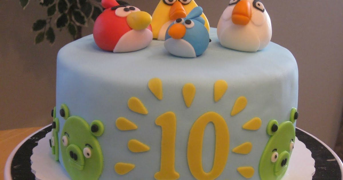 Cakes By Becky Angry Birds Birthday Cake
