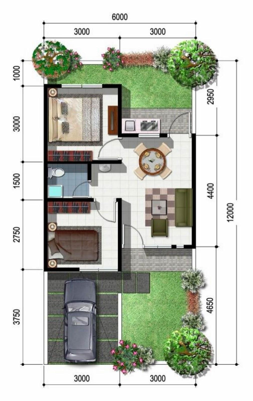 Desain Denah Rumah Minimalis Unik