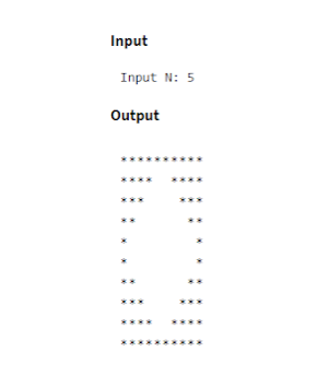Hollow Diamond Star Pattern 14 - programming blog