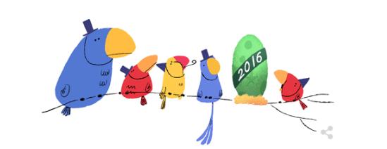 Malam Tahun Baru, Google Telah Mepersiapkan Doodle Terbarunya