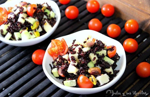 Ensalada de arroz venere. Julia y sus recetas