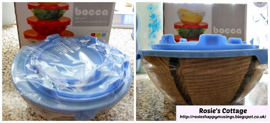 Bocca lidded glass bowls