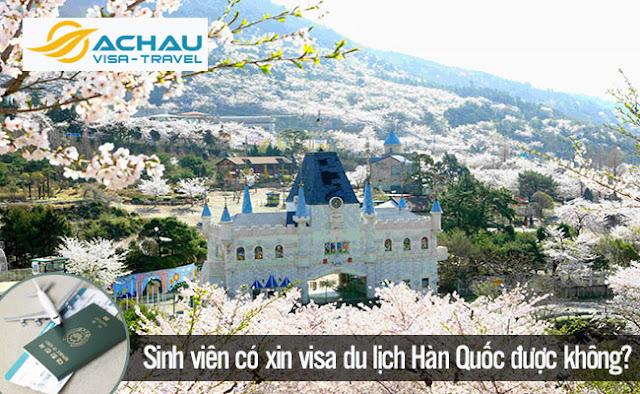 Là sinh viên có xin visa du lịch Hàn Quốc được không?