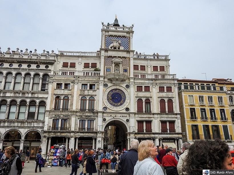 Torre do Relógio de São Marcos - O que fazer em Veneza
