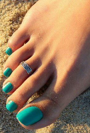 Toe nail arts desgin