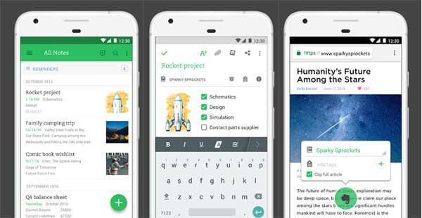 5 Aplikasi pencatat terbaik untuk Android di tahun 2018