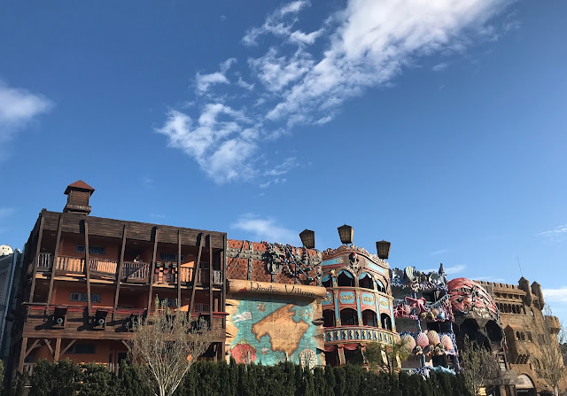 Exterior of Pirates Village hotel in Majorca