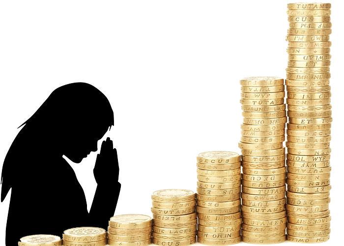 orando para receber dinheiro