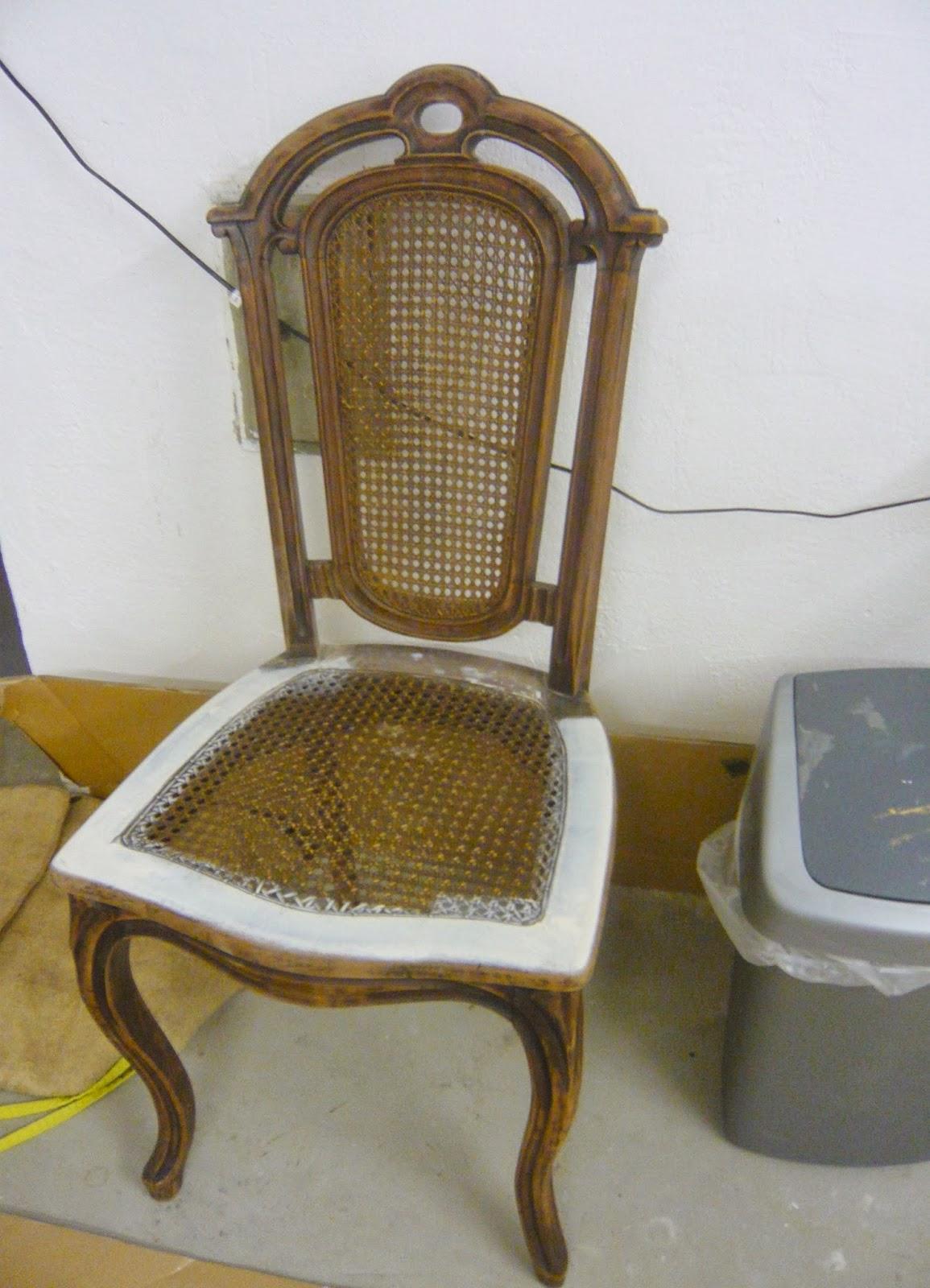 Fundstücke mit stil: alter stuhl im shabby look