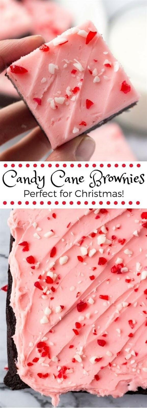 Candy Cane Brownies #Candycane #candy #Cookies #Bestcandy #Bestcookies #Pinkcookies #Dessert #italiandessert #Americandessert #Bestdessert