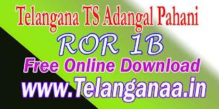 Telangana TS ROR 1B Free Online Download mabhoomi.telangana.gov.in