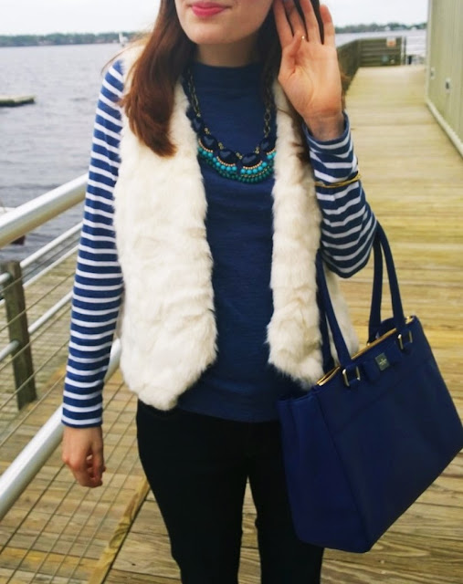 Spring transitional outfit navy
