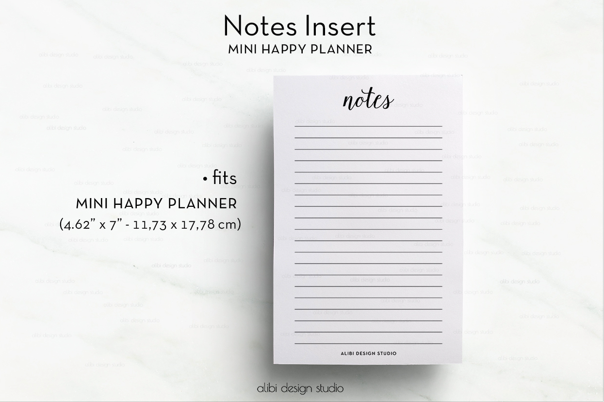 It is a graphic of Irresistible Free Mini Happy Planner Printable Inserts