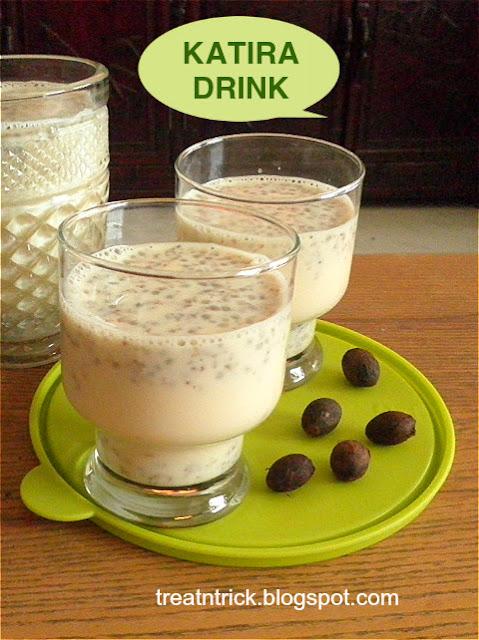 Katira Drink Recipe @ treatntrick.blogspot.com