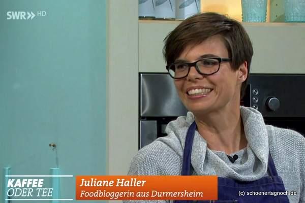 Screenshot Kaffee oder Tee Auftritt Juliane Haller