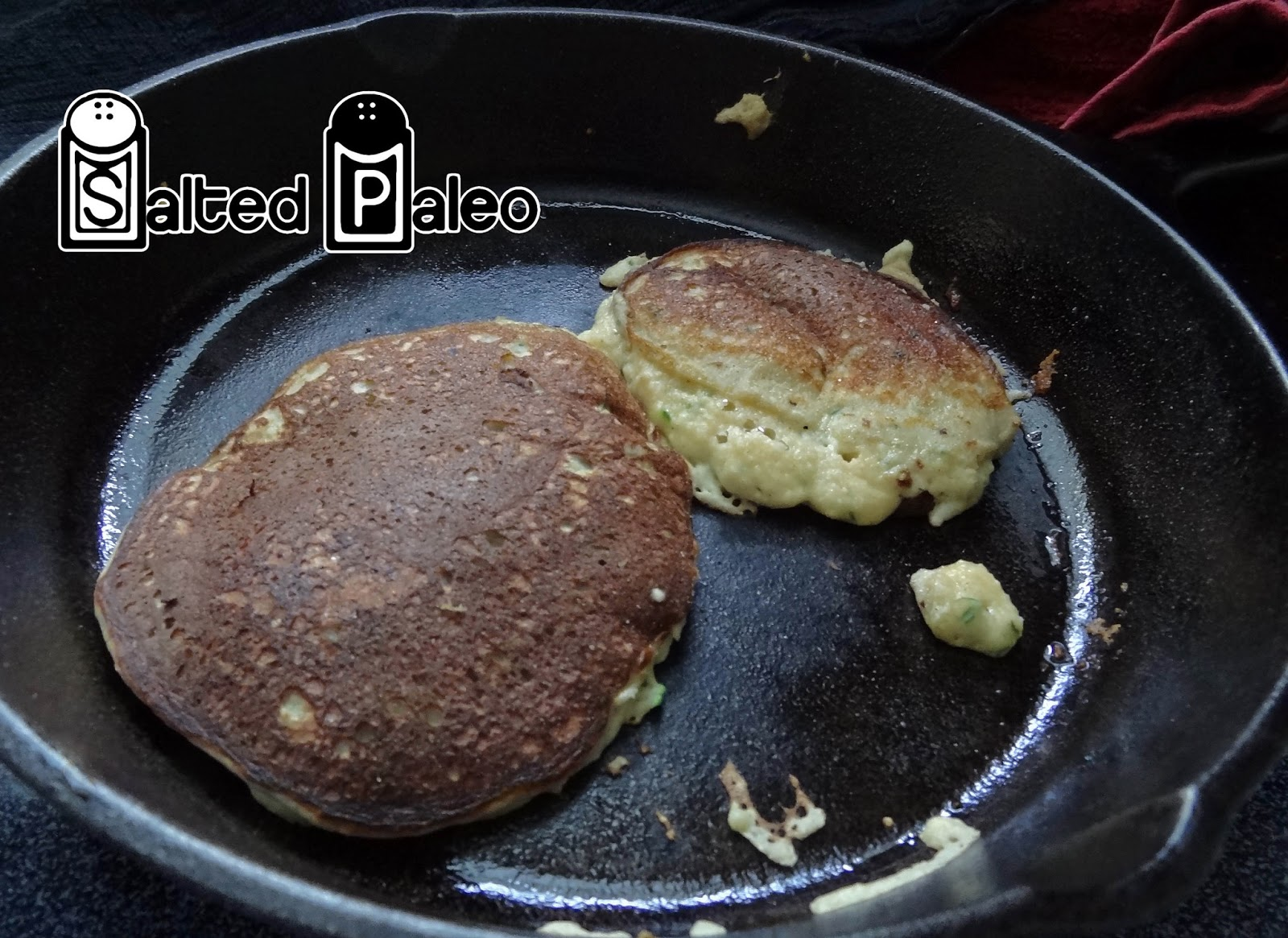 Salted Paleo Zucchini Paleo Pancakes Made With Coconut