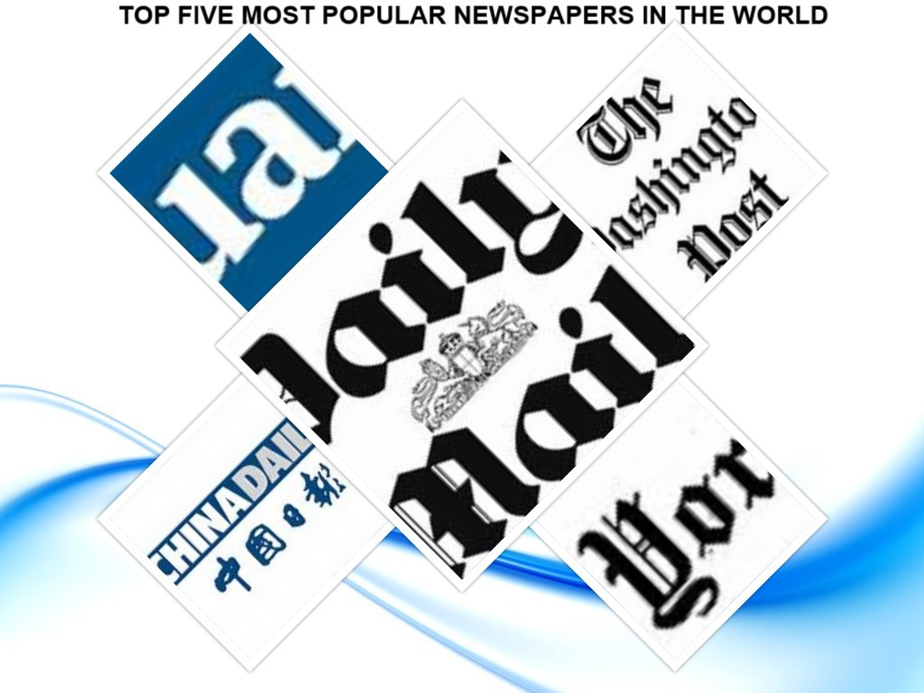 TOP FIVE MOST POPULAR NEWSPAPERS IN THE WORLD
