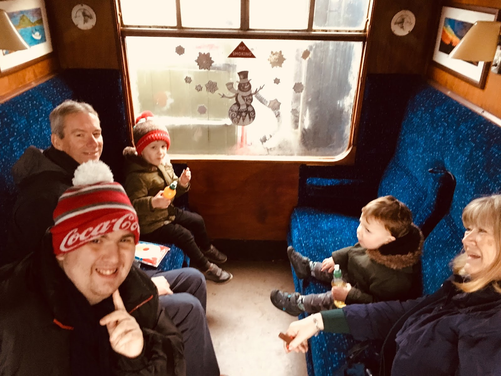 Aln Valley Railway Santa Specials Train Review - inside a train carriage