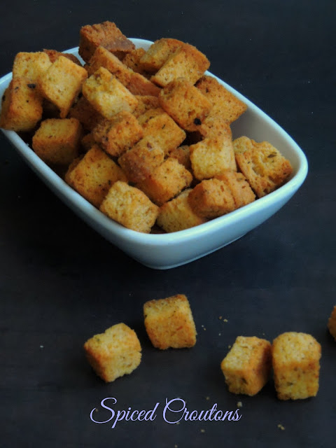Oregano Spiced Croutons, Croutons