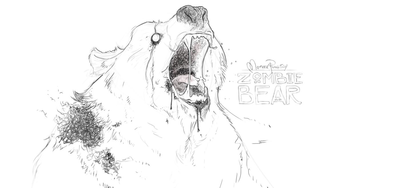 Sketch Zombie Bear Josh Huf