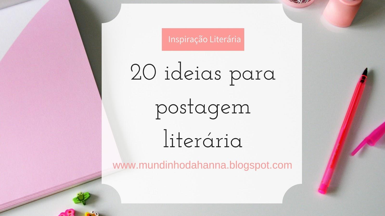 Ideias para post literário
