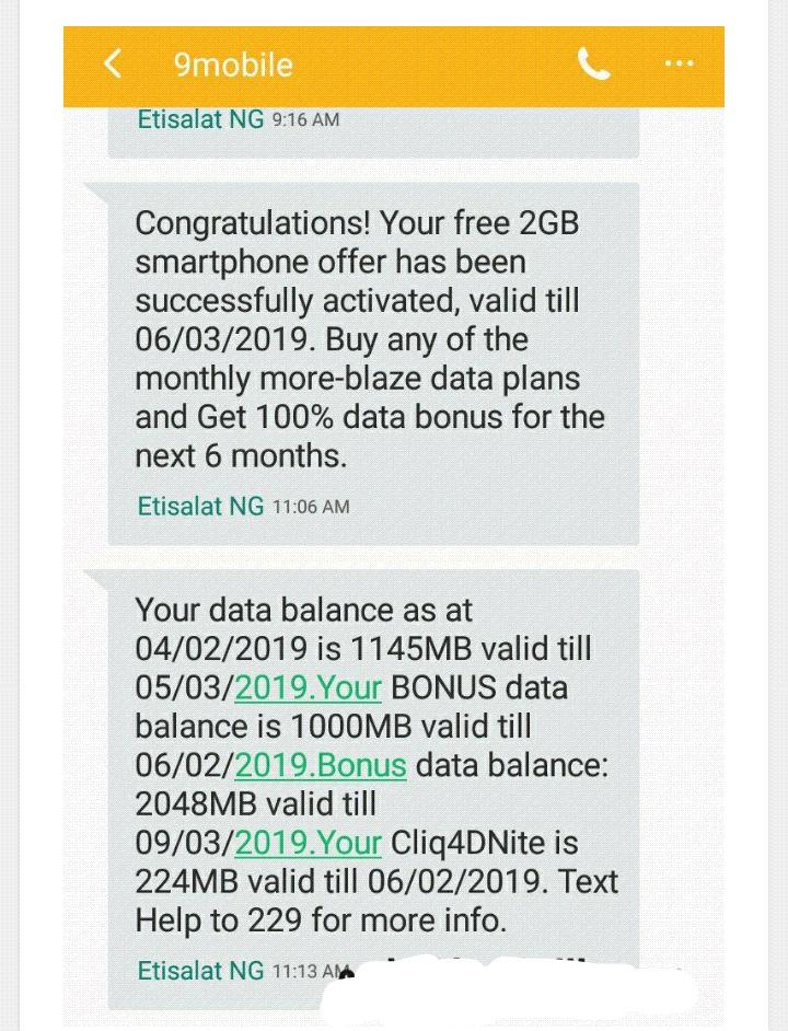 Etisalat free data offer 2019