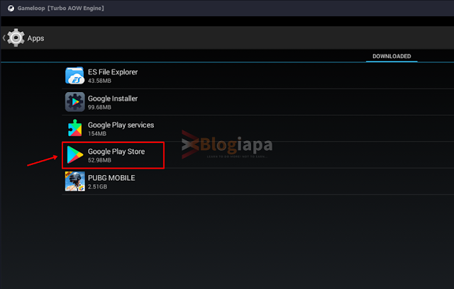 successfully installed google play in gameloop