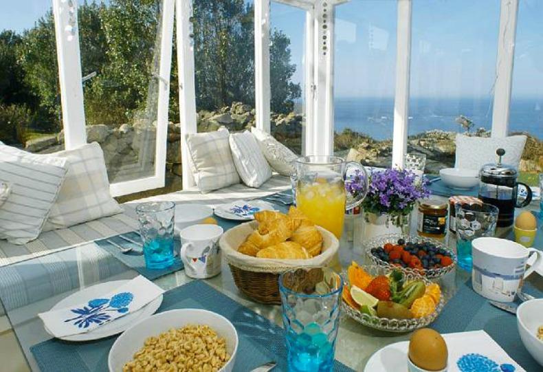 Coastal breakfast nook with gorgeous ocean views