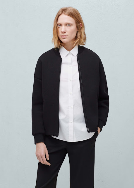 mango black bomber jacket, black cotton bomber jacket,
