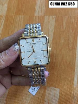 Đồng hồ nam dây inox trắng Sunrise V021750