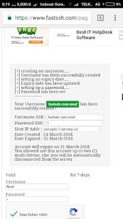 Akun SSH SSL/TLS Premium gratis fastssh