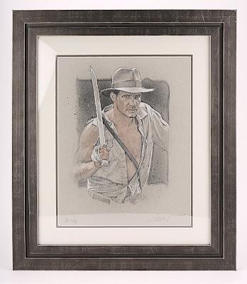 424 - Indiana Jones (1981) - Drew Struzan Autographed Art Print (c 2003)