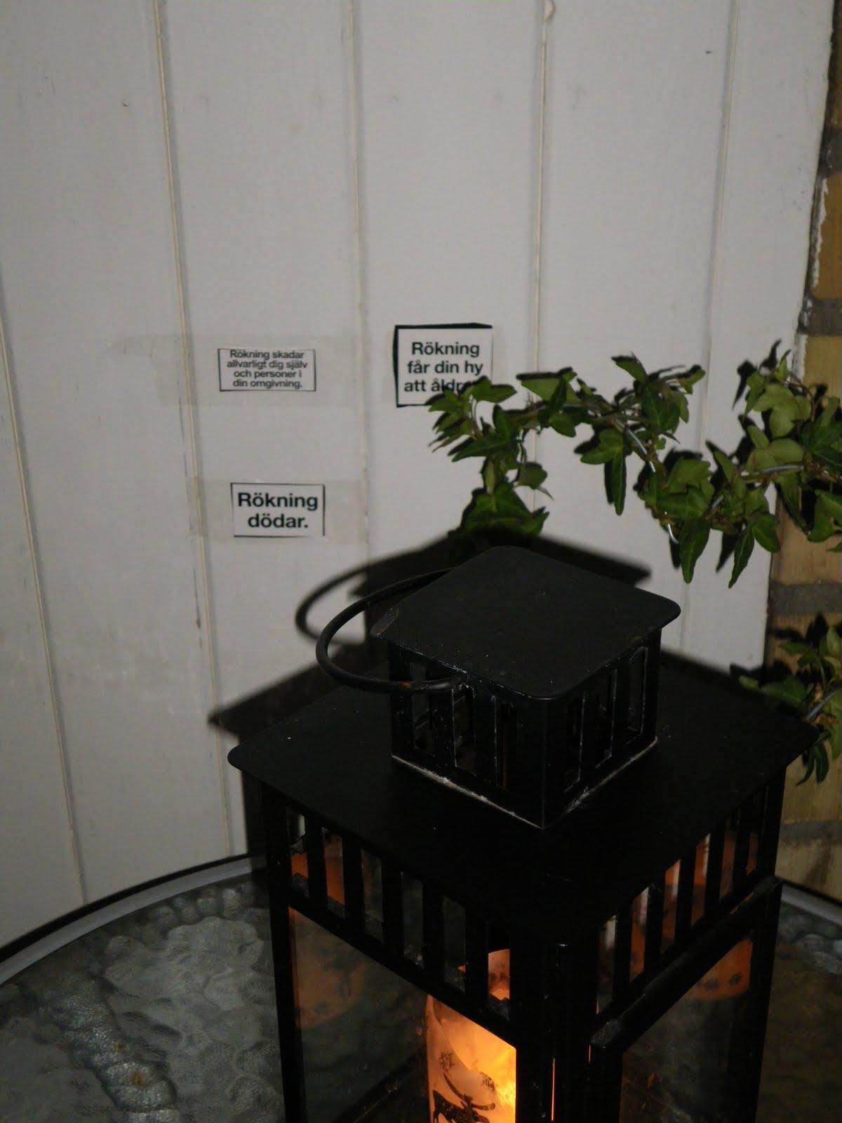 rökning på balkong