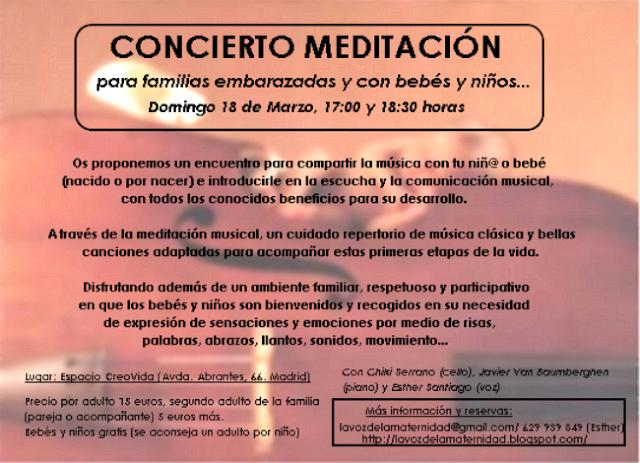 CONCIERTO-MEDITACIÓN DOMINGO 18 DE MARZO