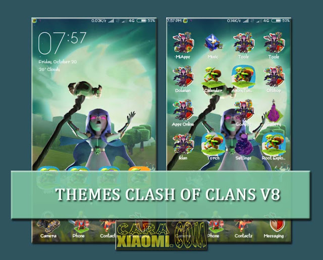 MIUI Theme Clash of Clans V8 Mtz Update New Design