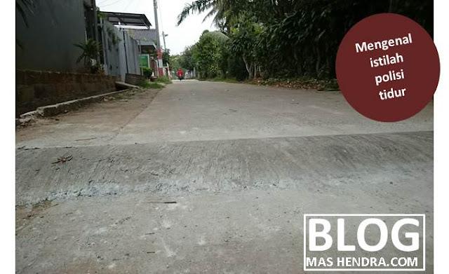 Polisi Tidur di Komplek Perumahan - Blog Mas Hendra