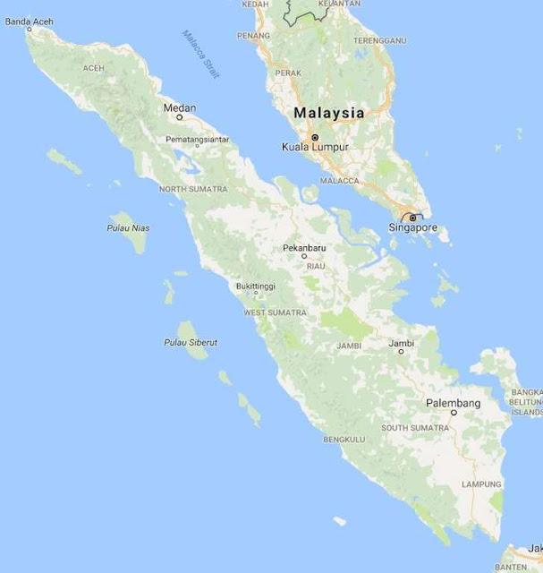 sumatera nomor 3 pulau terbesar di Indonesia