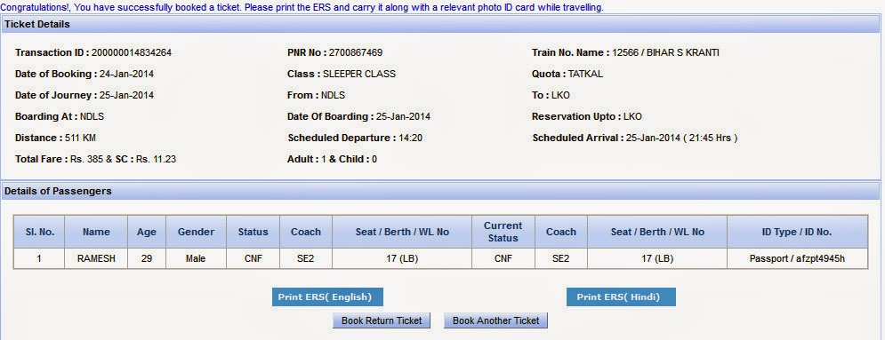 nget irctc login confirmed tatkal ticket