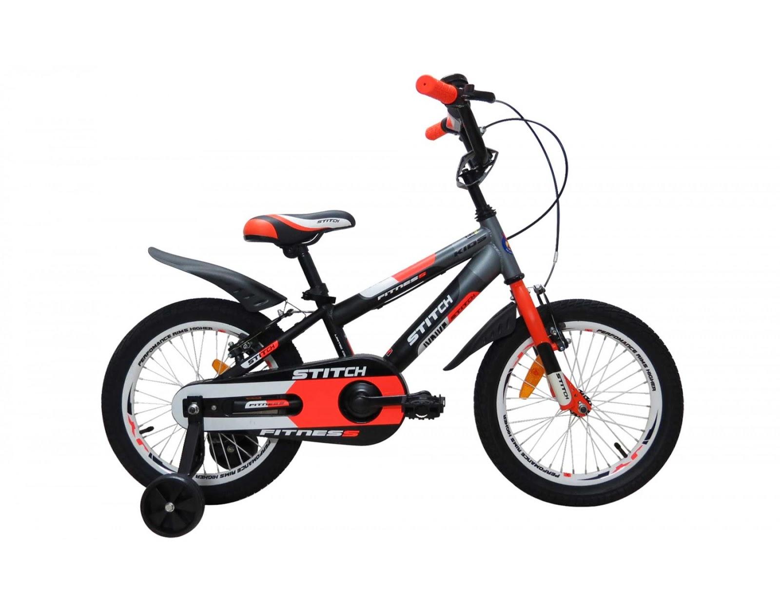 Xe đạp cho bé trai màu đỏ đen