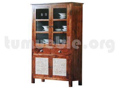 mueble vitrina en teca 4033