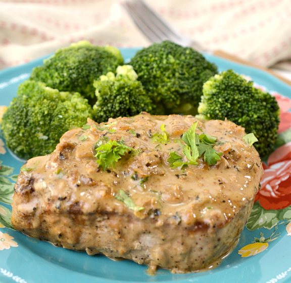 Keto Pork Chops in Parmesan Cream Sauce #keto #diet