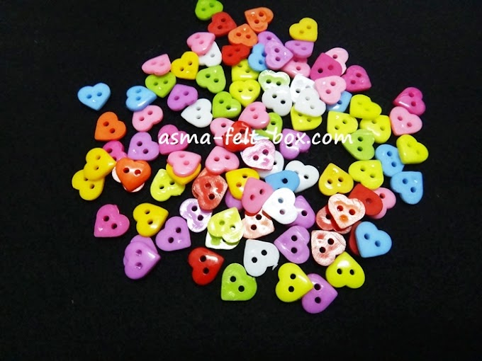 HEART BUTTON 11mm