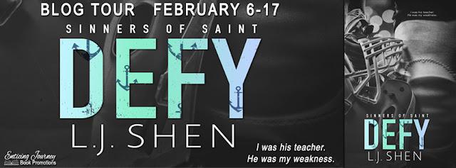 Defy by L.J. Shen Blog Tour Reviews + Giveaway