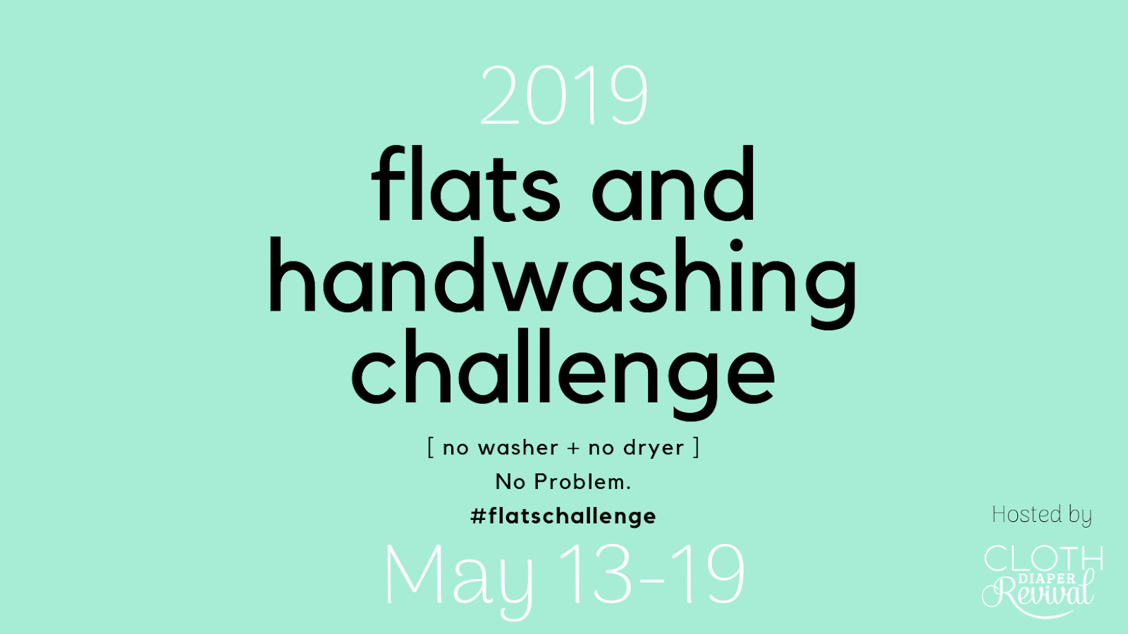 Cloth Diaper Revival: 2019 Annual Flats and Handwashing