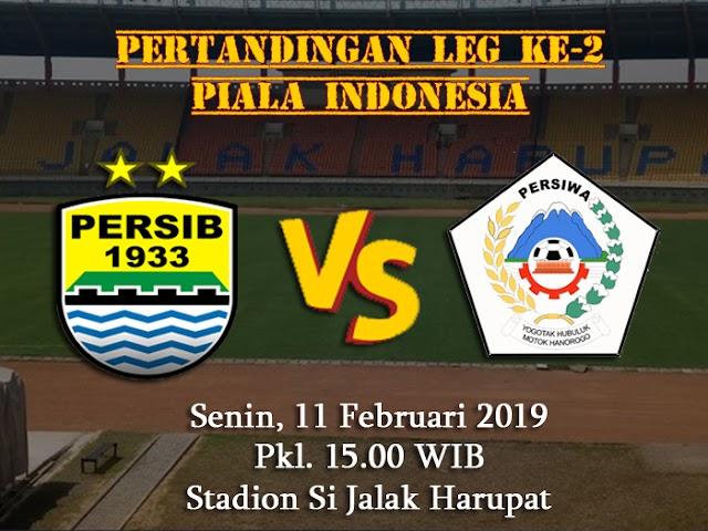 Laga Leg Ke-2 Persib VS Persiwa Jadinya Digelar 11 Februari 2019