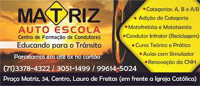 Resultado de imagem para AUTO ESCOLA MATRIZ LAURO DE FREITAS