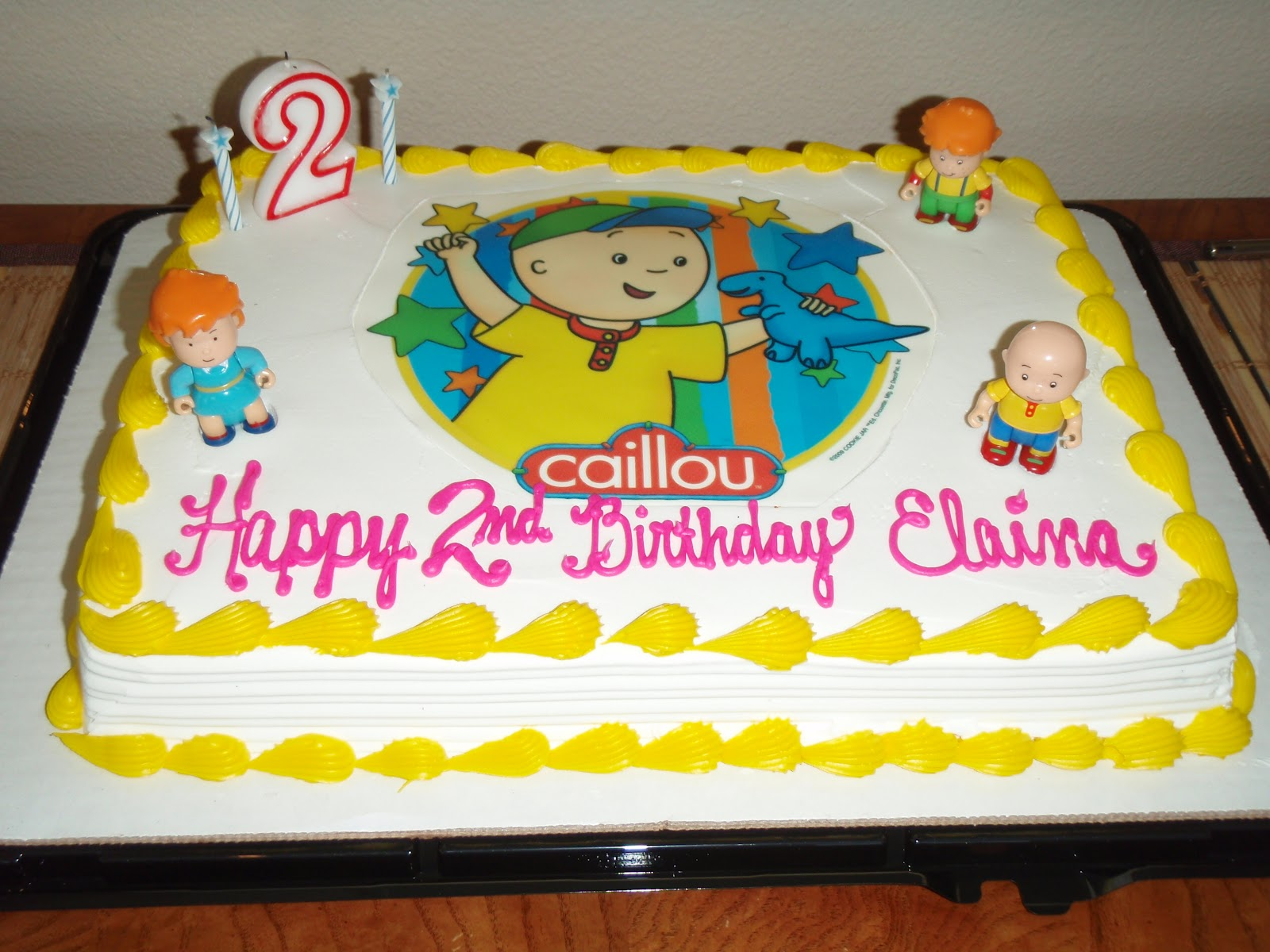 Scrumptious Sweets A Caillou Cake For Boys 2nd Birthday Party