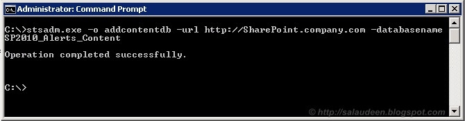 Attach Content Database to SharePoint