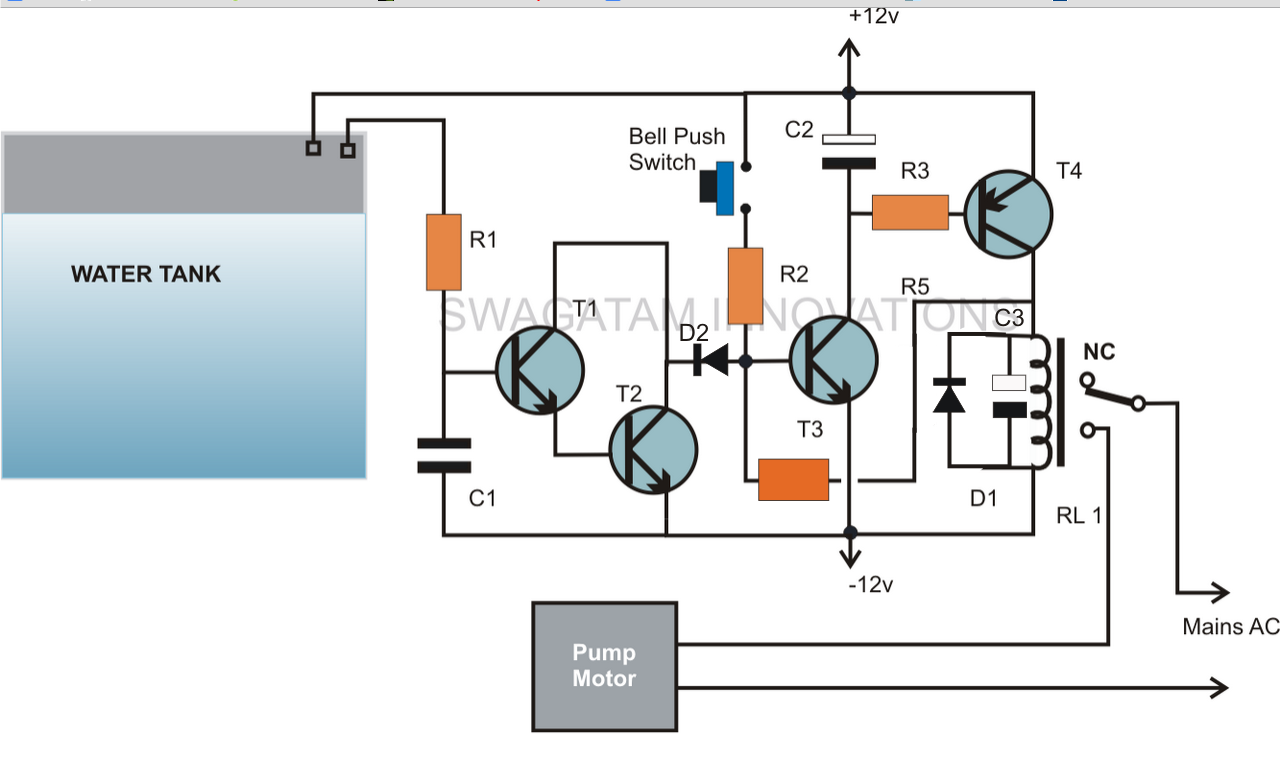 liquid level controller circuit diagram barn owl food web water control free engine