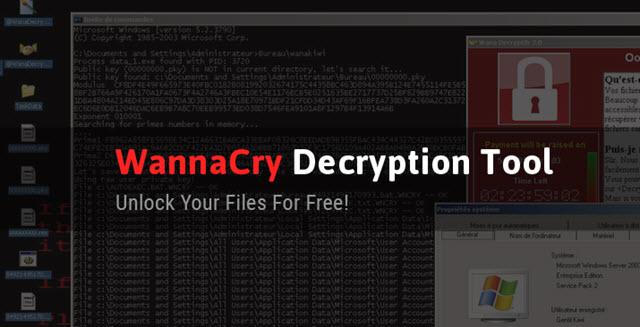أداة مجانية لفك تشفير ملفات فيروس الفدية بدون دفع اى مبالغ مالية WannaCry ransomware
